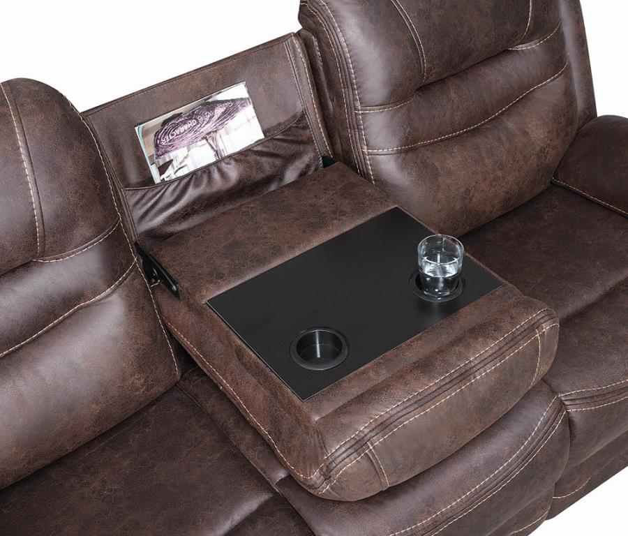 Drop Down Console on Sofa