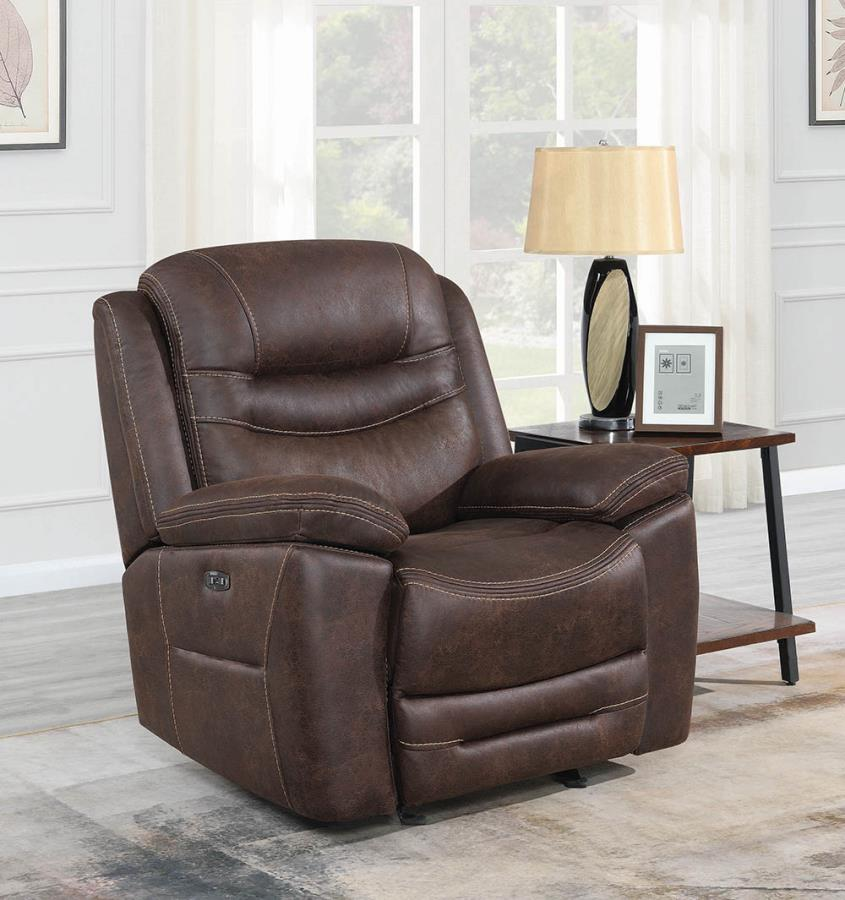 Chocolate Power Motion Recliner not Opened