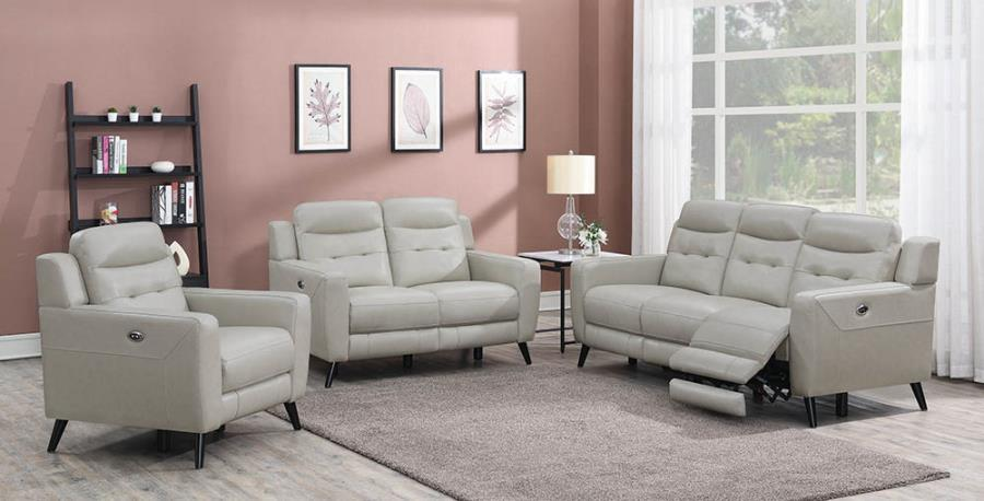 Beige Complete Power Motion Sofa Set