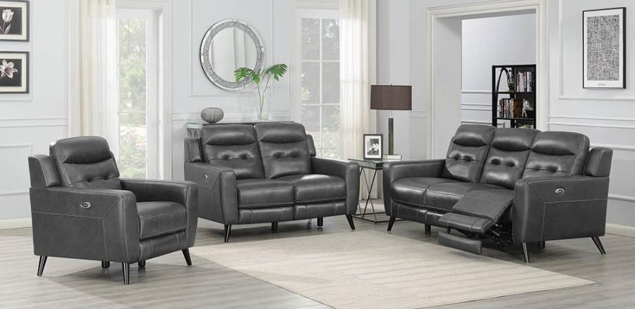 Charcoal Complete Power Motion Sofa Set