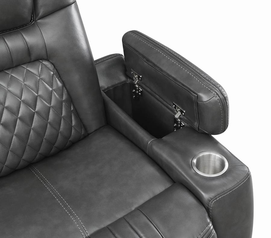 Lift Top Armrest and Cup Holder