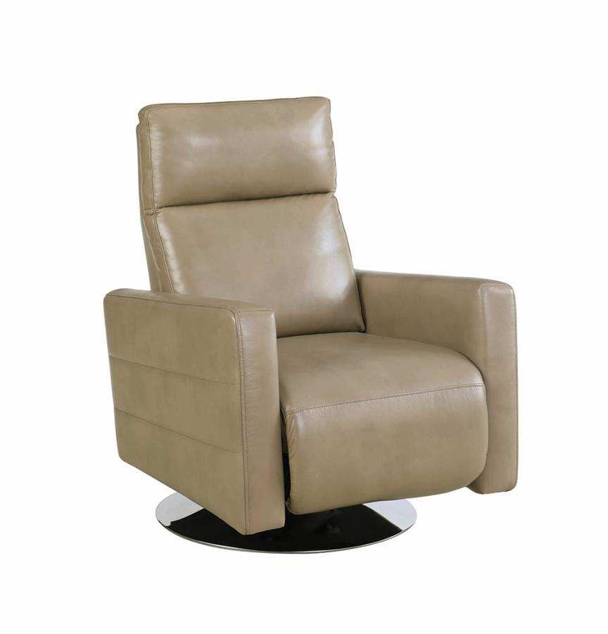 Taupe Swivel Recliner