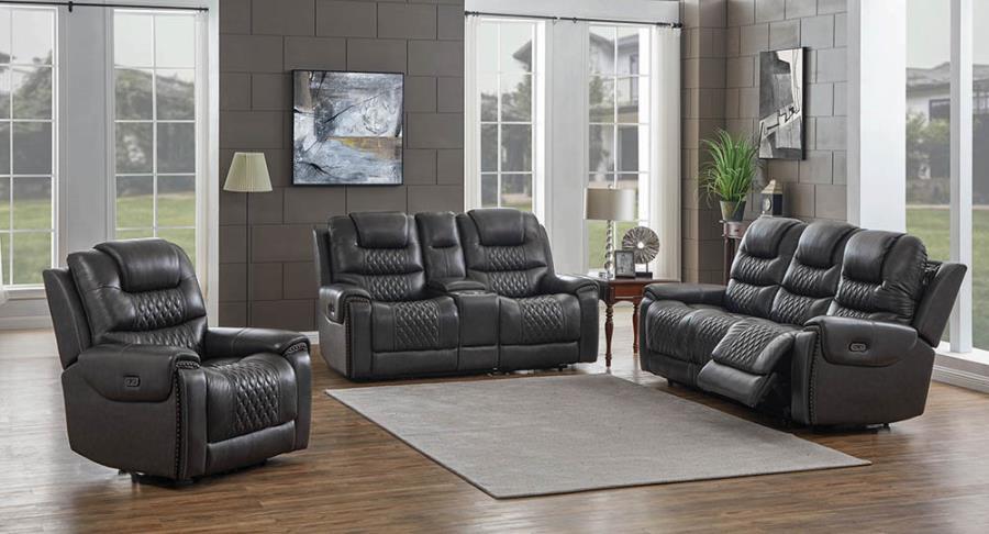 Grey Complete Power Motion Sofa Set
