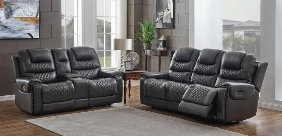 Power Motion Reclining Loveseat and Sofa