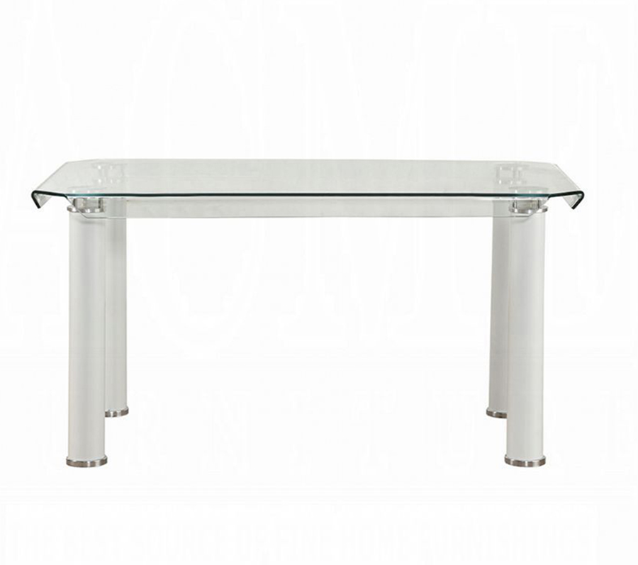 White Leg Dining Table Front