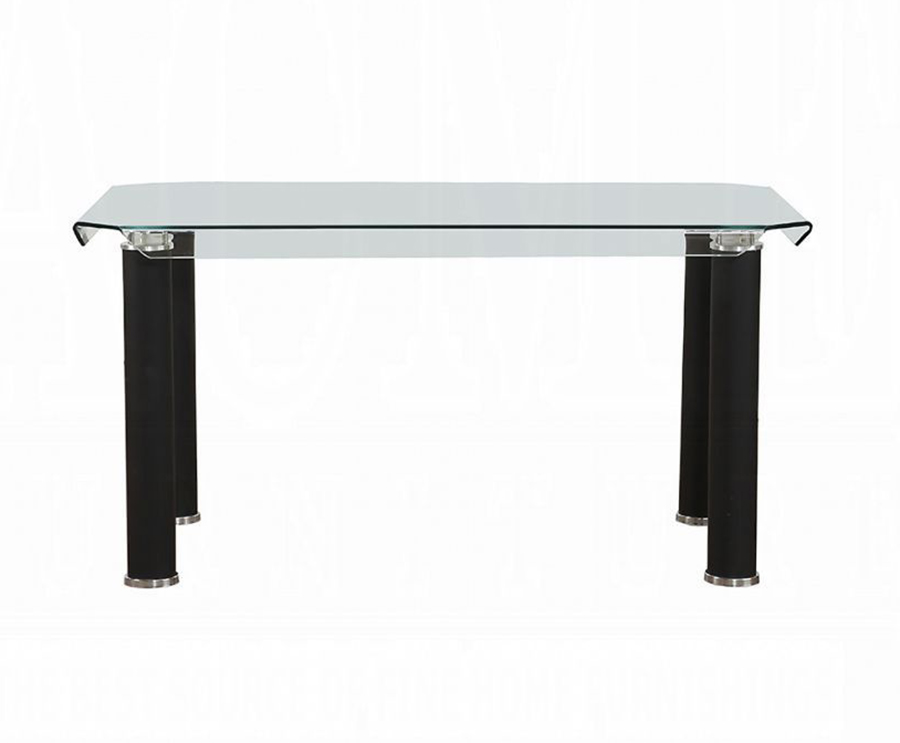 Black Leg Dining Table Front