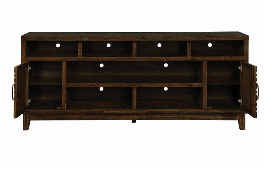 """84"""" TV Console Cabinets Opened"""