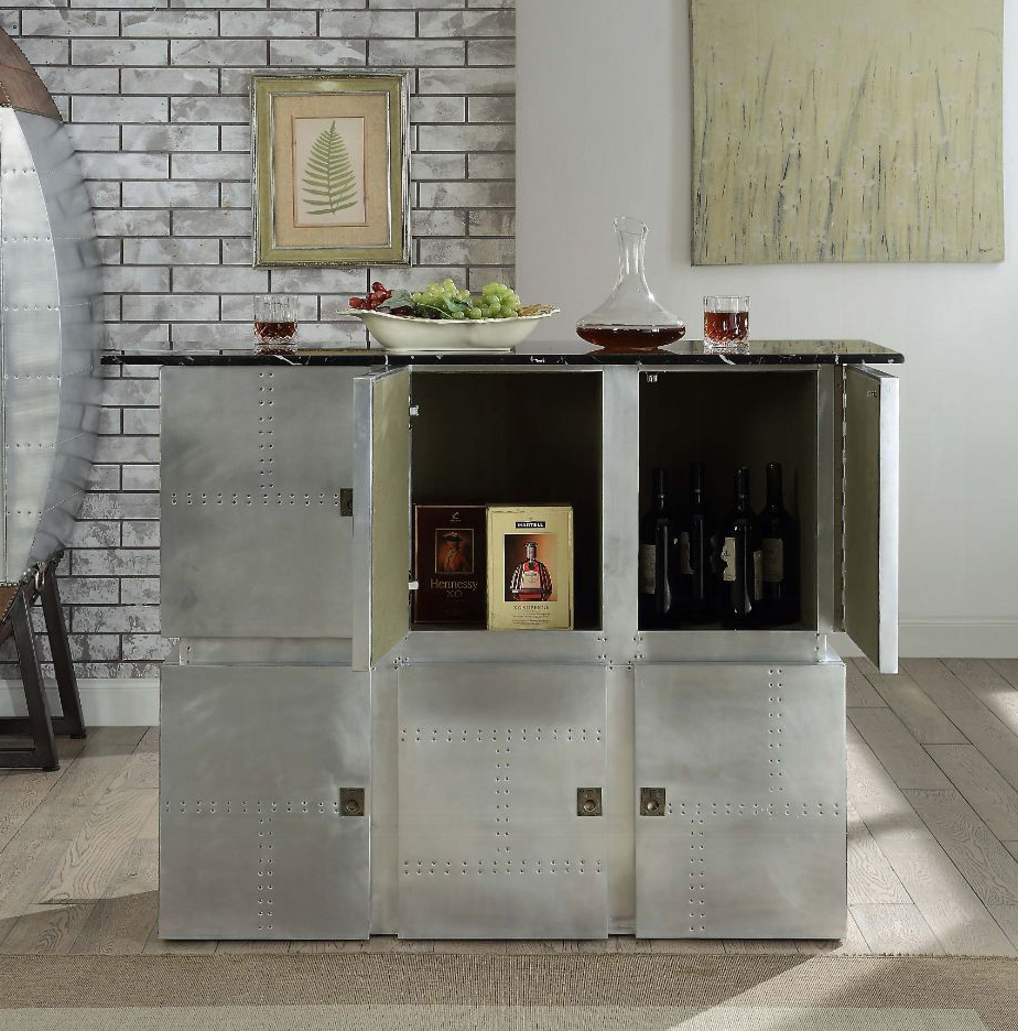 Bar Table Back with 2 Doors Opened