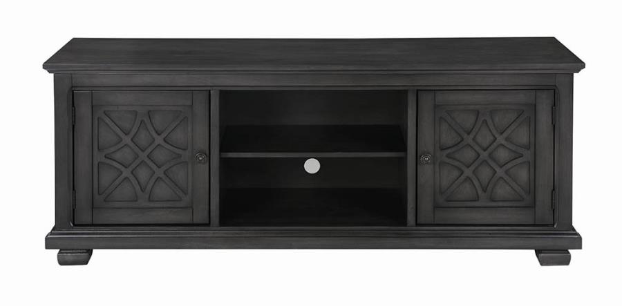 Rustic Grey TV Console Front