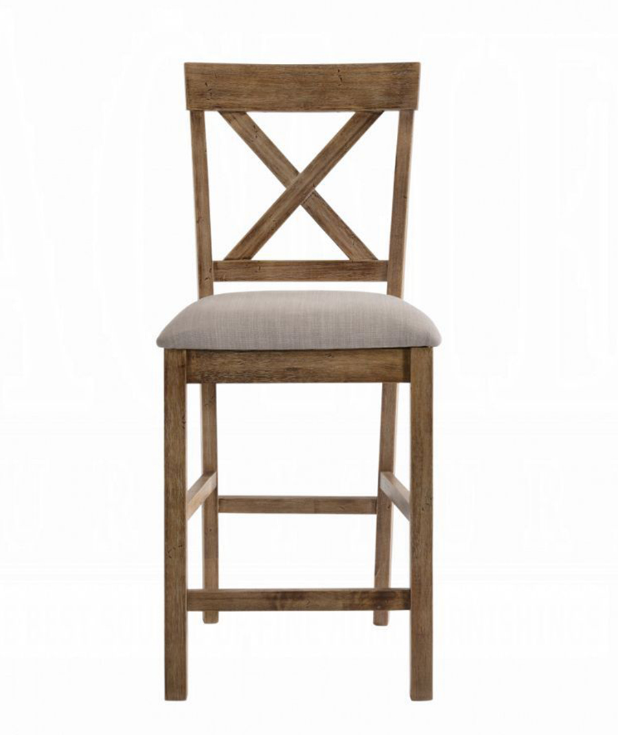 Weathered Oak Counter Height Chair Front