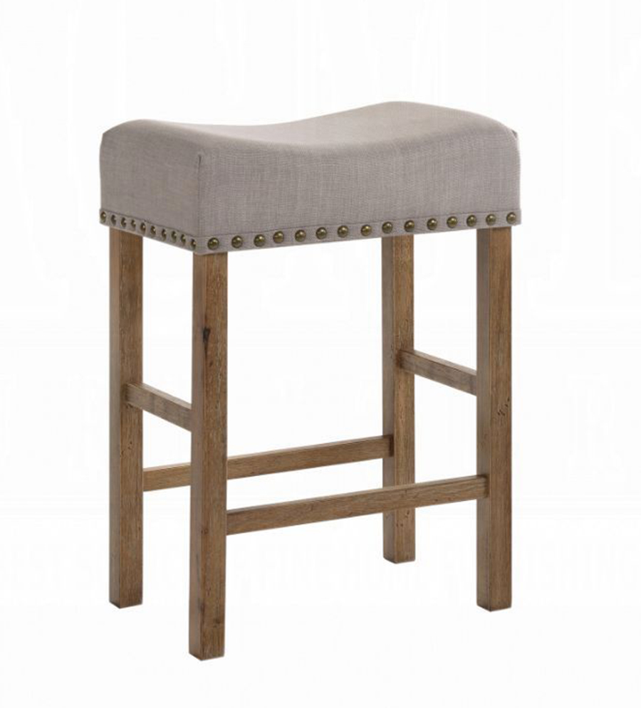 Weathered Oak Counter Height Stool