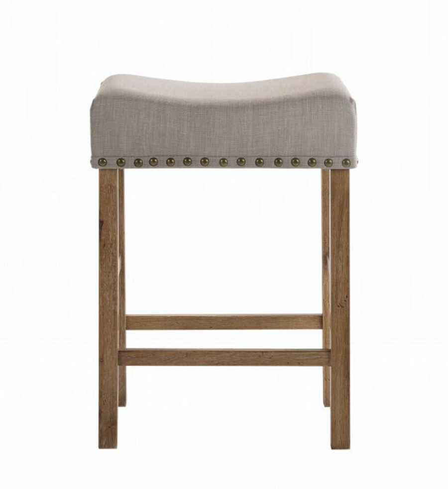 Weathered Oak Counter Height Stool Front