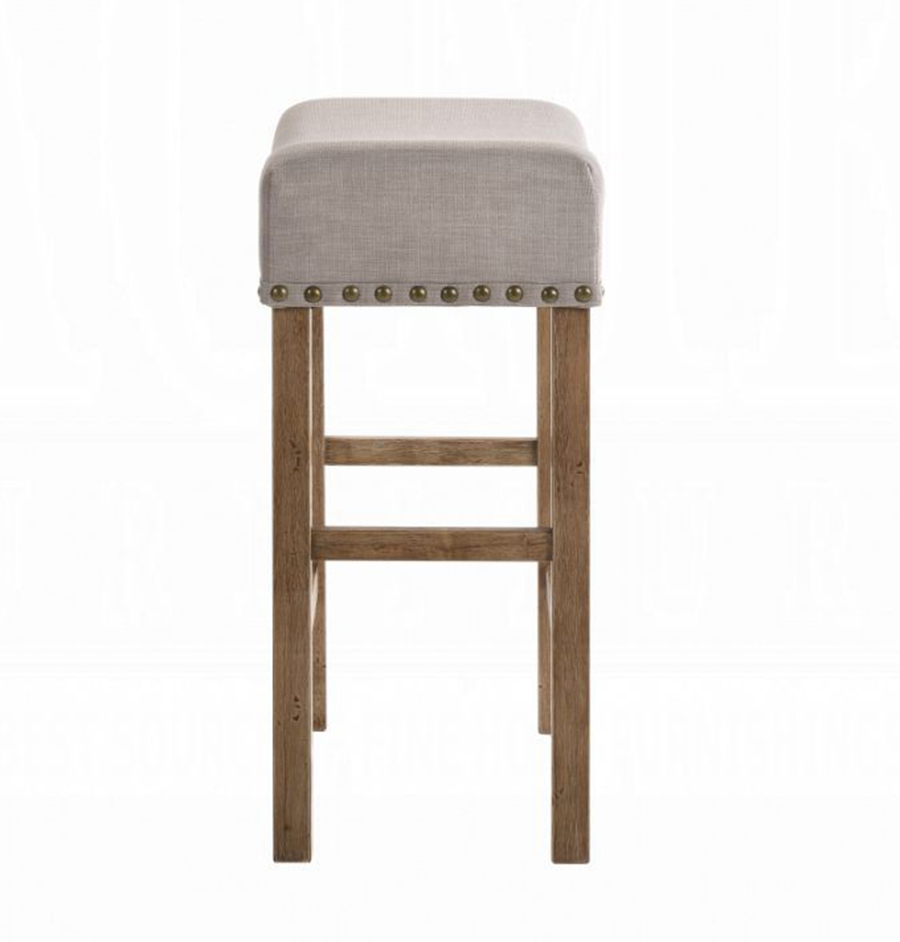 Weathered Oak Counter Height Stool Side