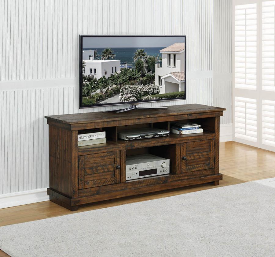 Antique Brown TV Console