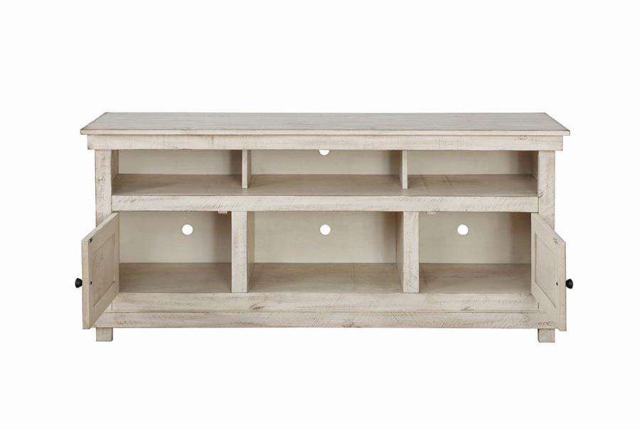 TV Console Storage Drawers Opened