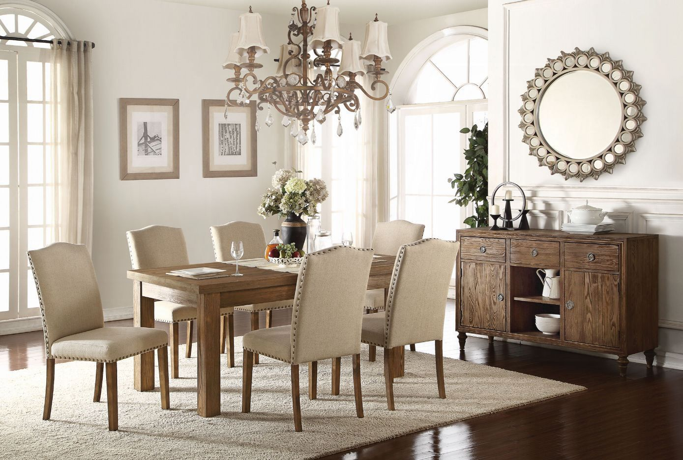 Complete Wooden Table Top Dining Table Set