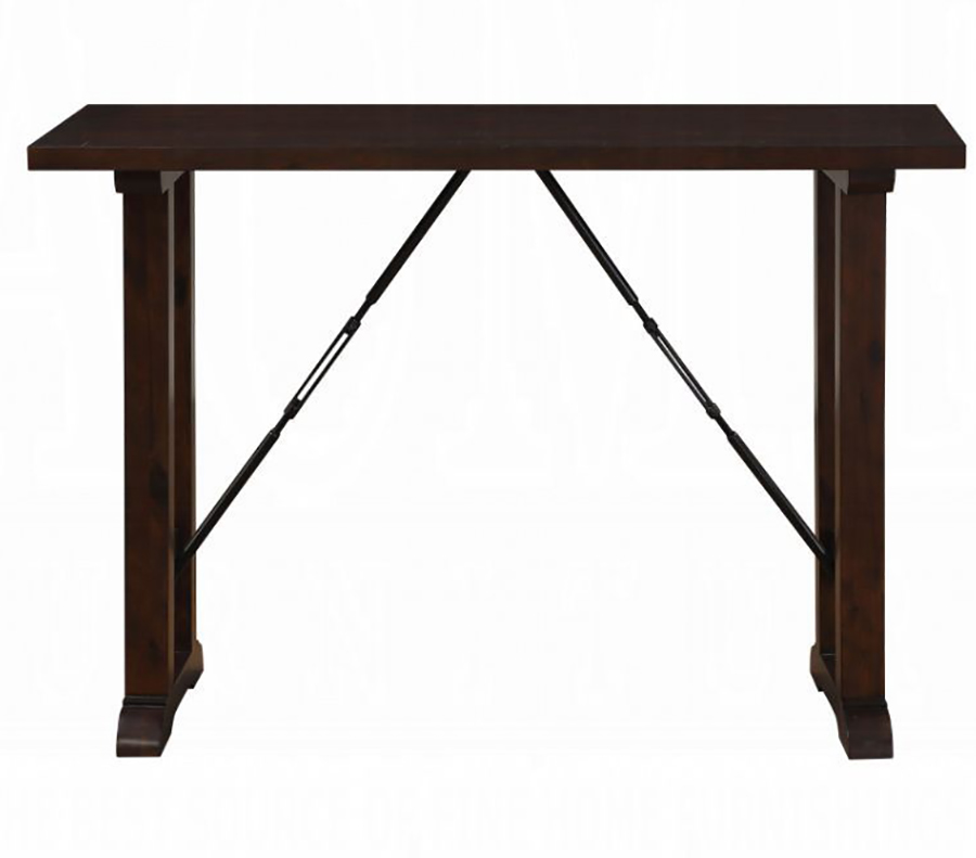 Walnut Counter Height Table Front