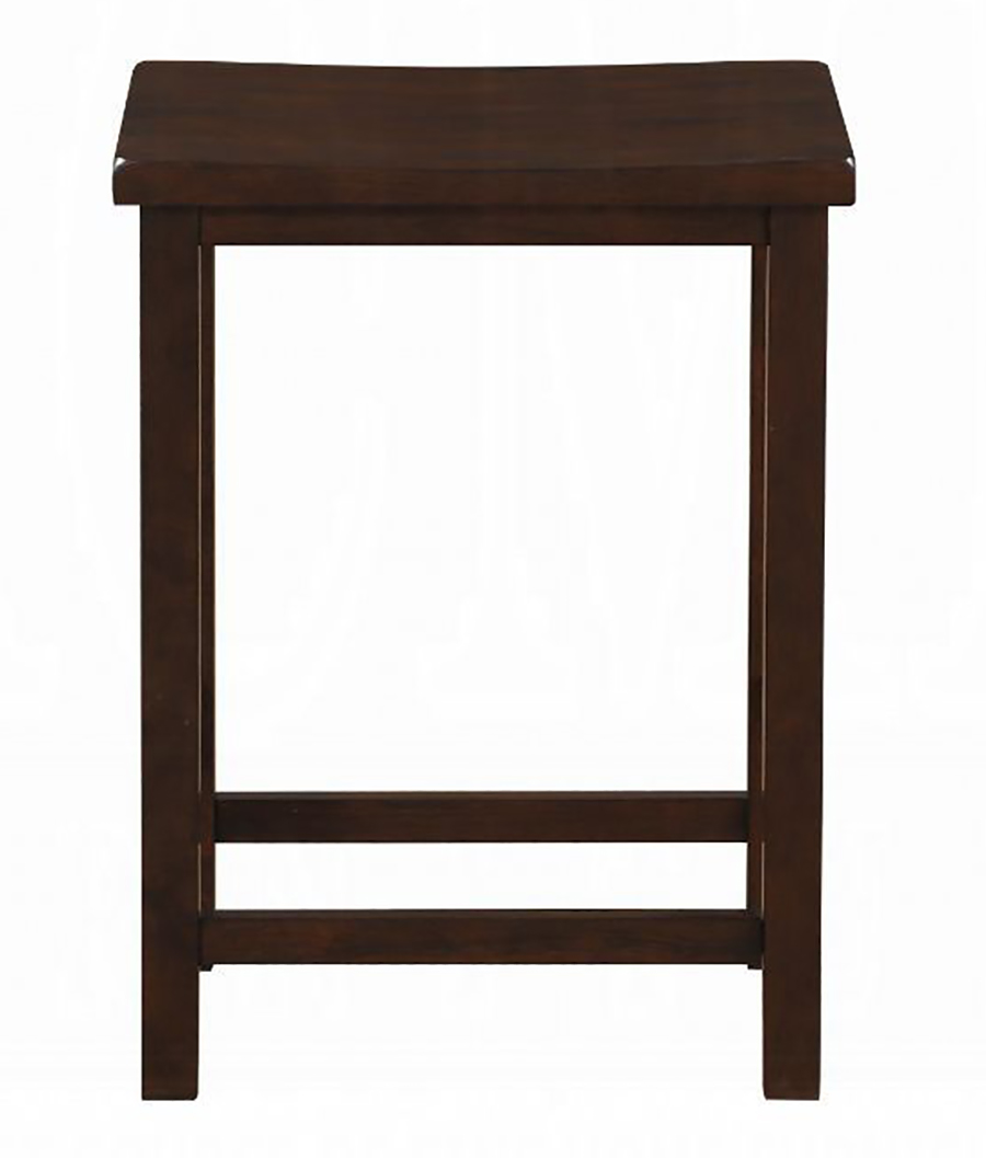 Walnut Counter Height Stool Front