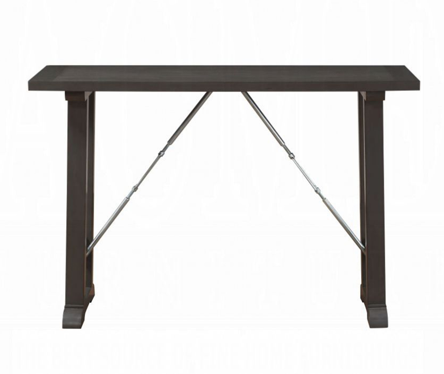 Gray Oak Counter Height Table Front