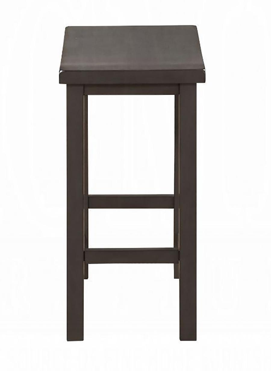 Gray Oak Counter Height Stool Side