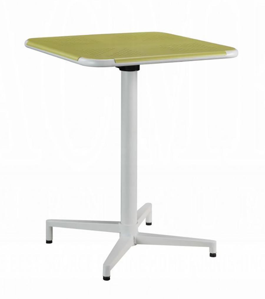 Yellow & White Folding Table Angle