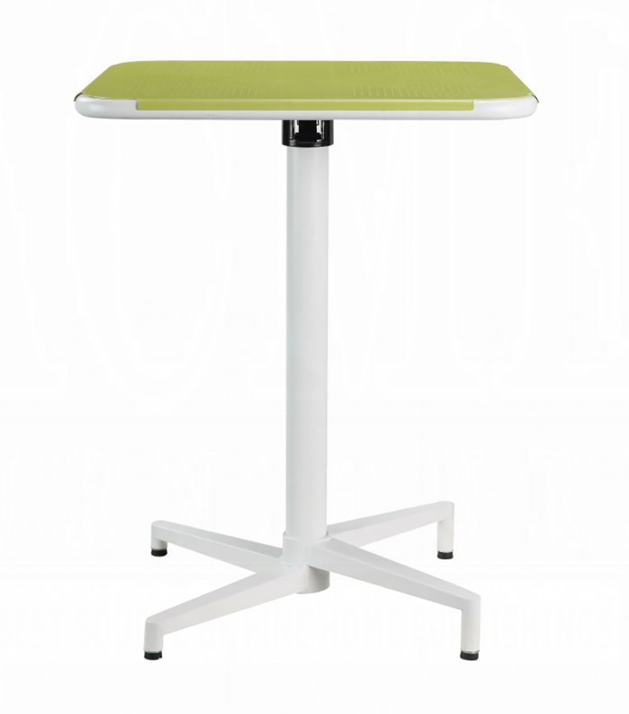 Yellow & White Folding Table Front