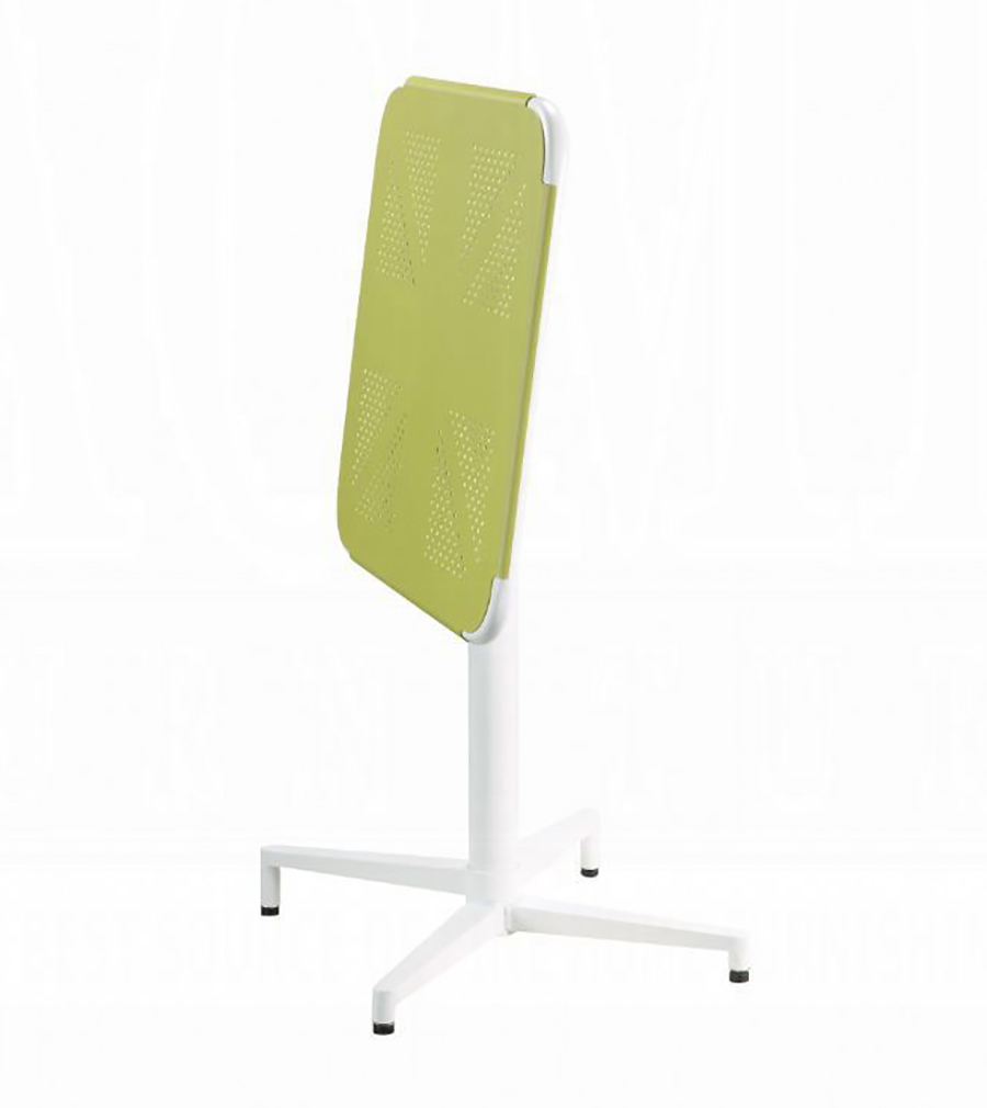 Yellow & White Folding Table w/ Top Folded Angle