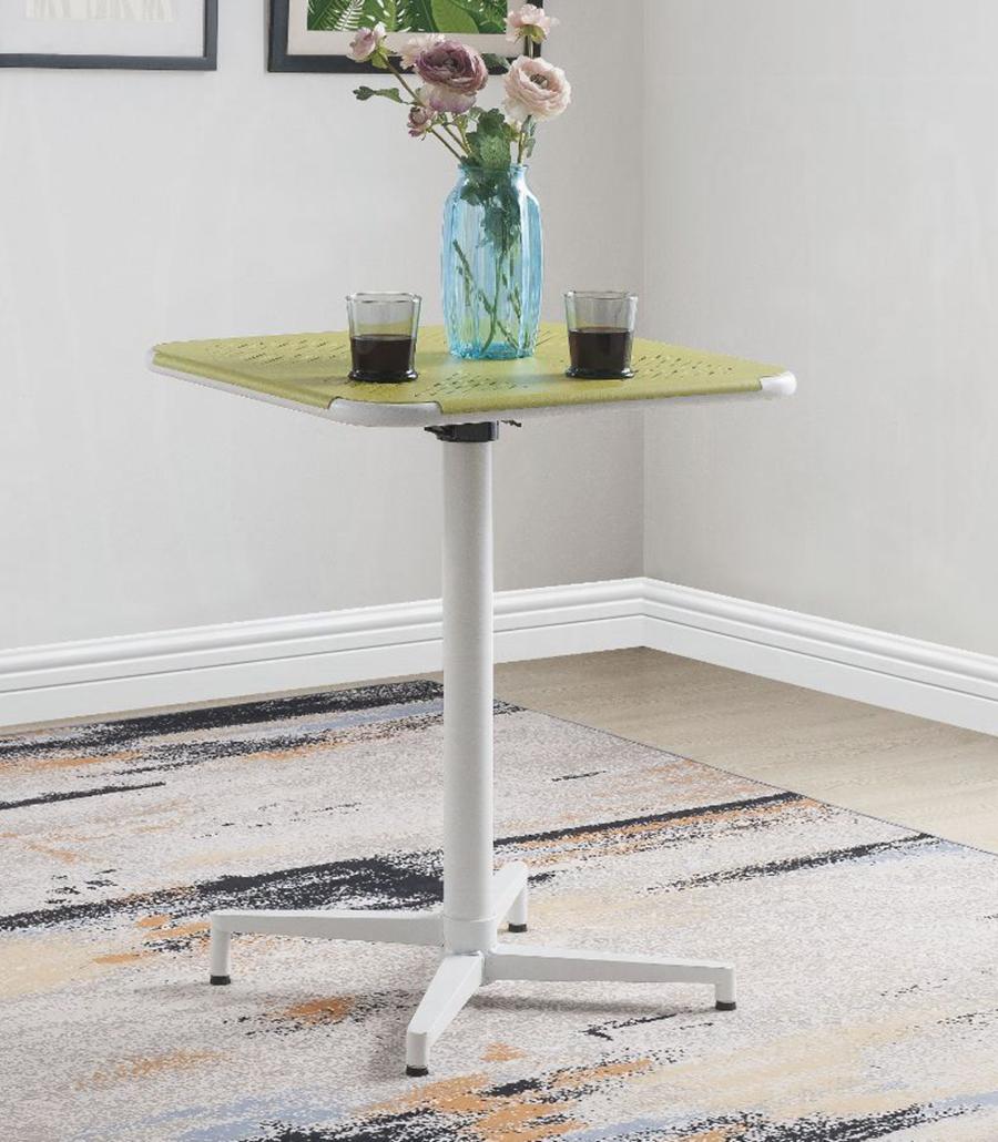 Yellow & White Folding Table