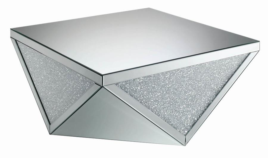Crystal Encrusted Coffee Table Angle View