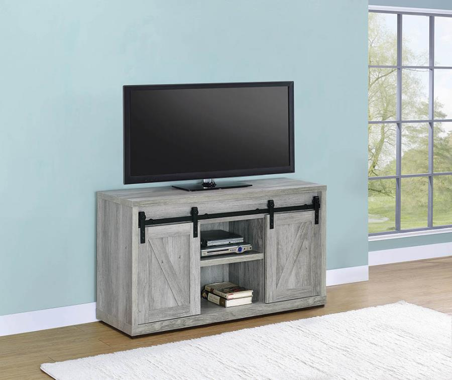 "Grey Driftwood 48"" TV Console"