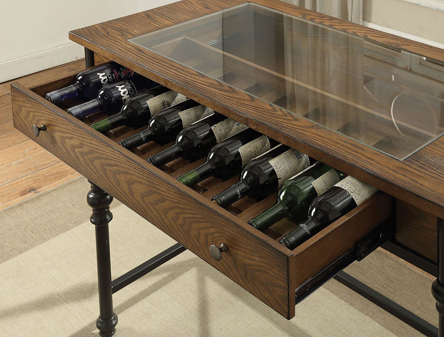 Counter Height Table Wine Bottle Storage Drawer