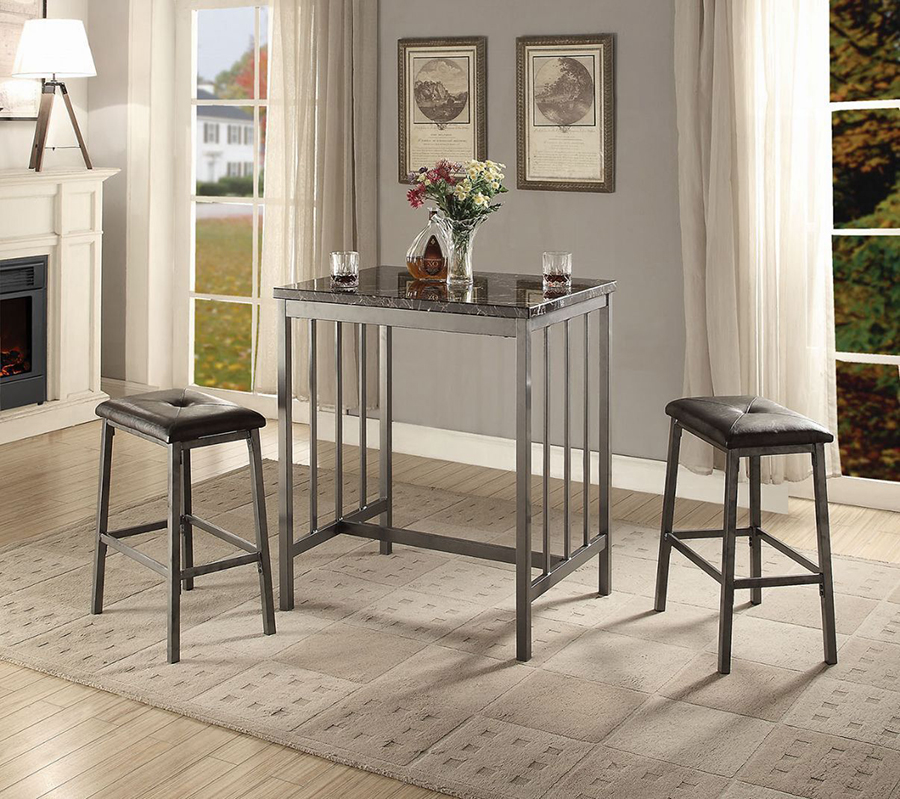 Complete 3 Piece Counter Height Table Set