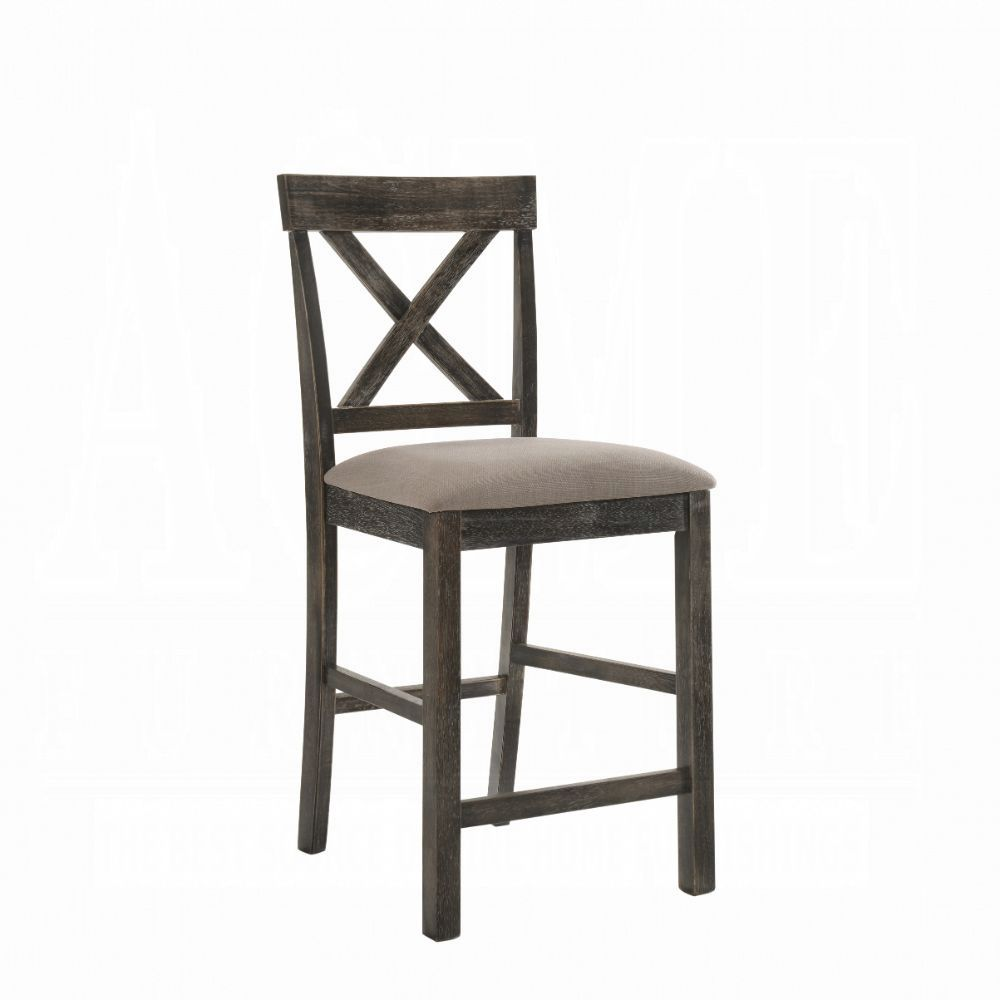 Weathered Gray Counter Height Chair Angle
