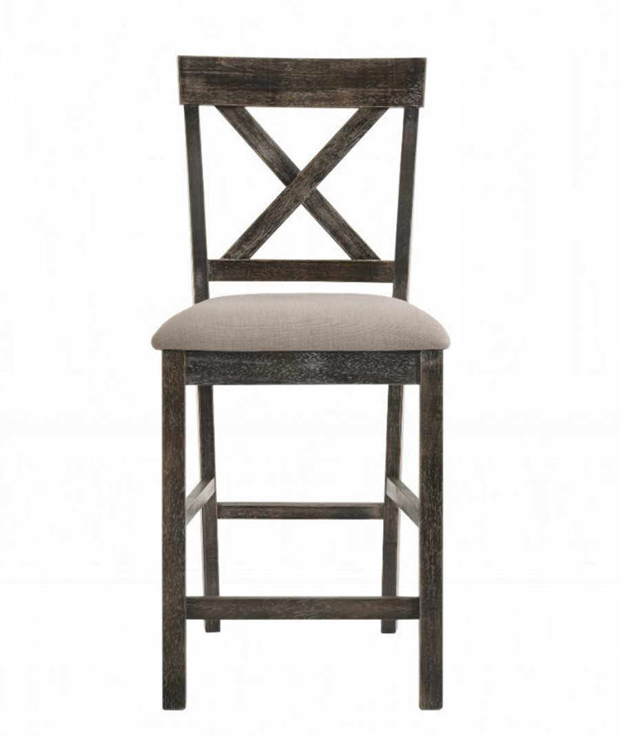 Weathered Gray Counter Height Chair Front