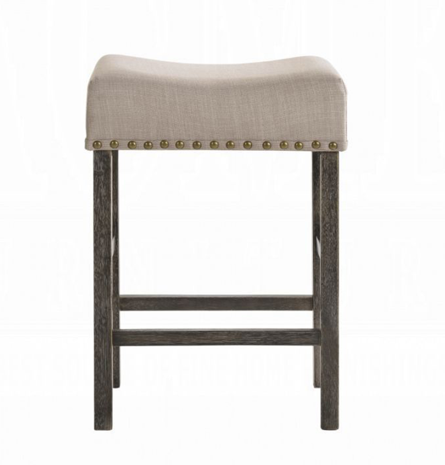 Weathered Gray Counter Height Stool Front