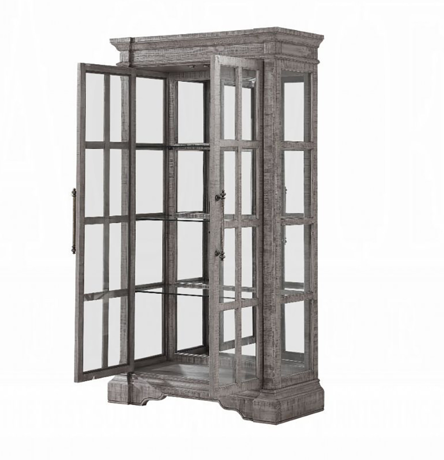 Curio Cabinet Angle w/ Door Opened