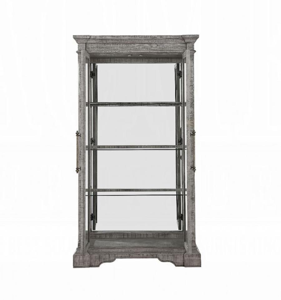 Curio Cabinet Front w/ Door Opened
