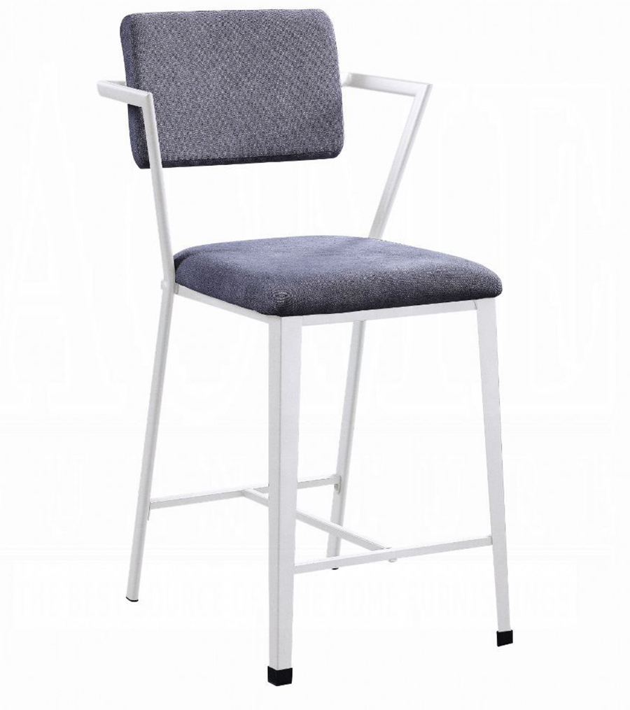 White Counter Height Chair Angle