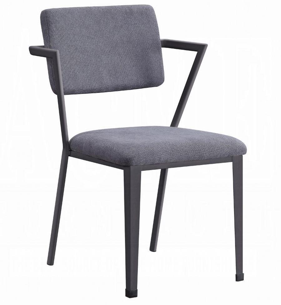 Gunmetal Arm Chair Angle
