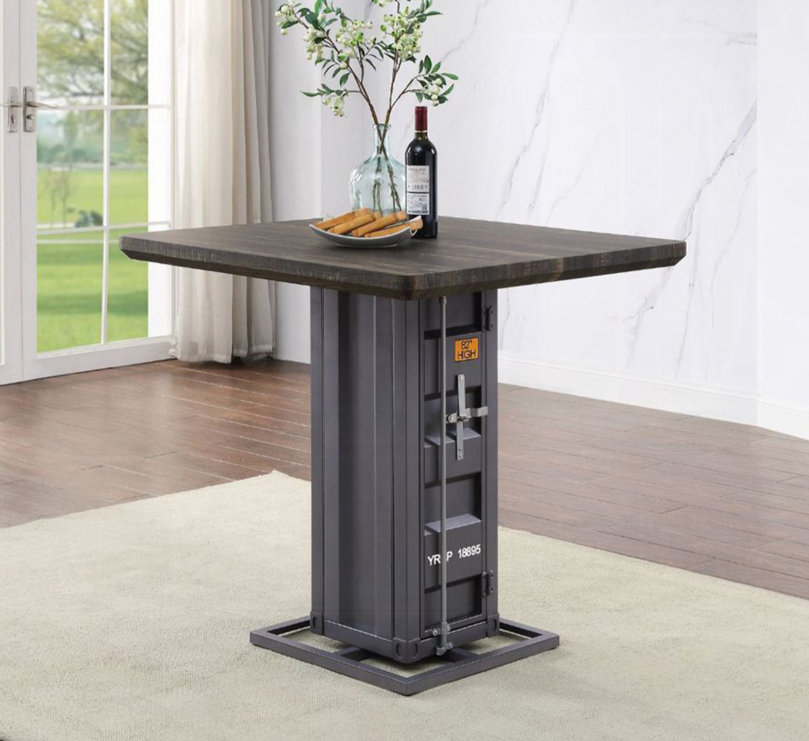 Gunmetal Counter Height Table