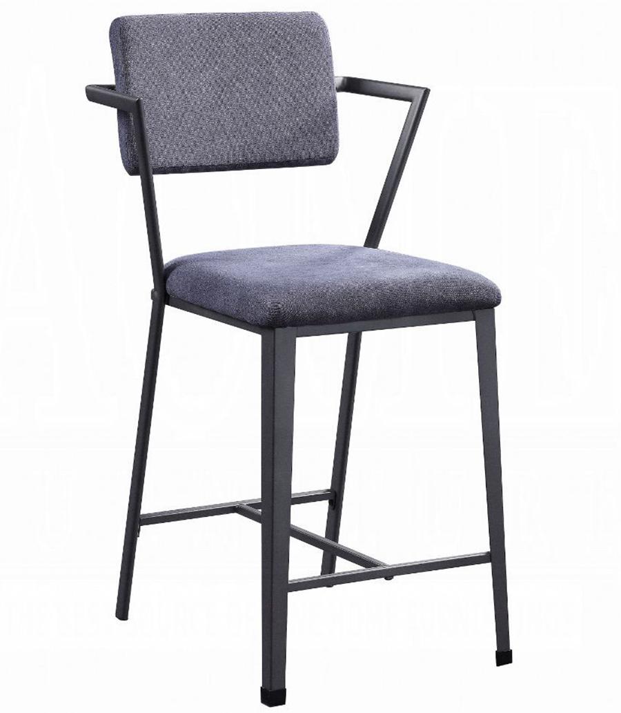 Gunmetal Counter Height Chair Angle