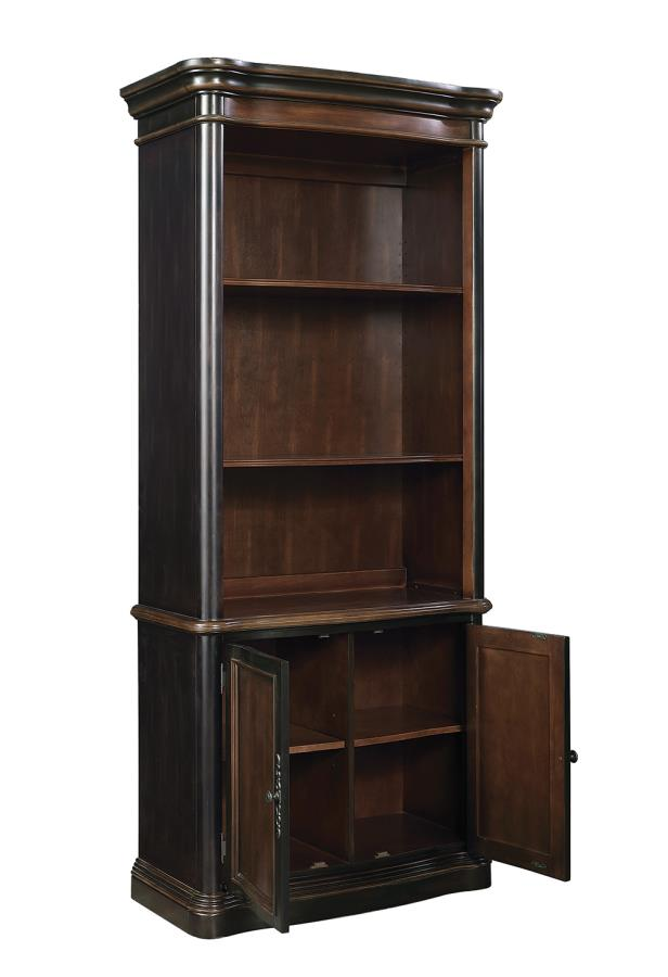 Bookcase with Cabinet Opened