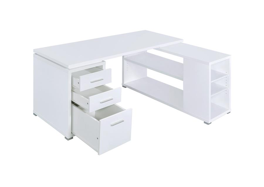 Office Desk Storage Space Opened
