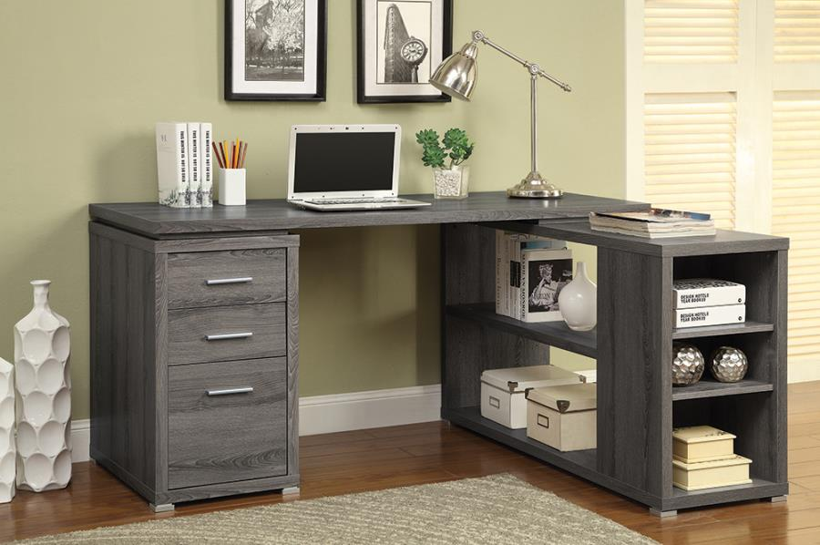Weathered Grey Office Desk