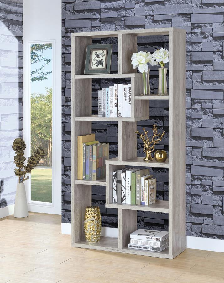 Grey Driftwood Bookcase