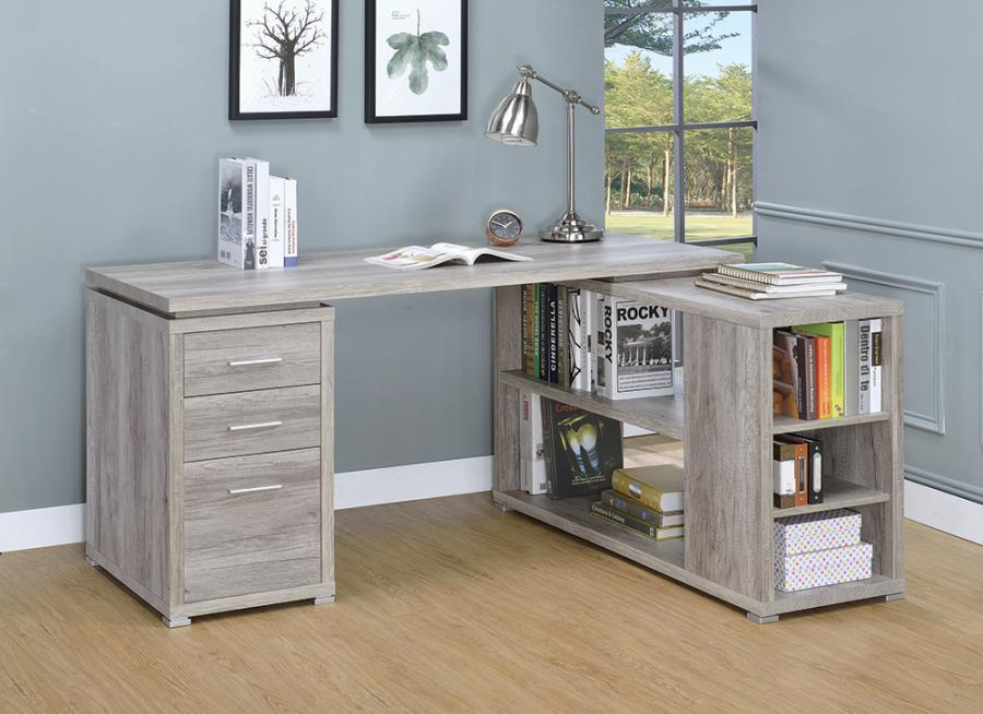 Grey Driftwood Office Desk