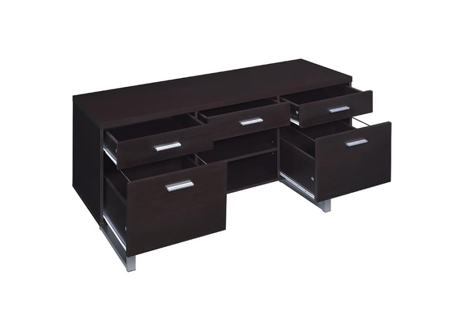 Credenza Storage Drawers Opened