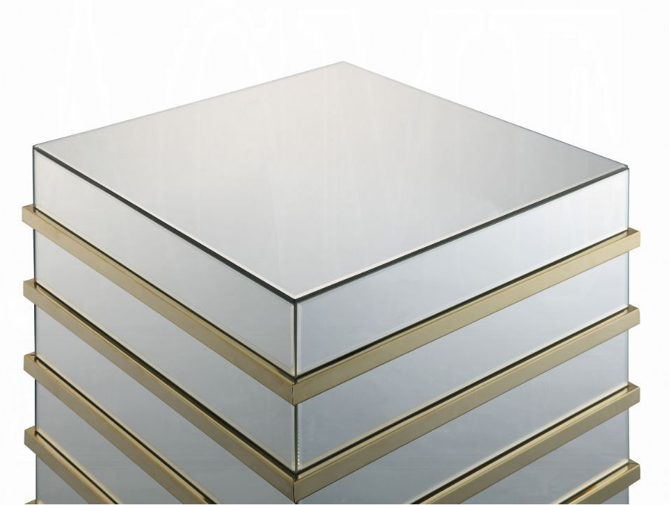 End Table Mirrored Top