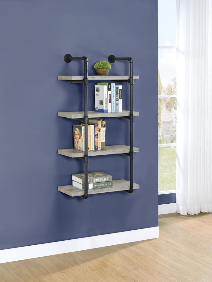 Grey Driftwood 24 Inch Wall Shelf