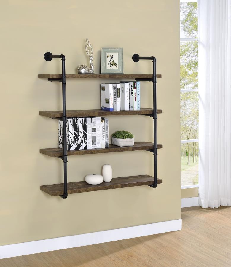 Rustic Oak 40 Inch Wall Shelf